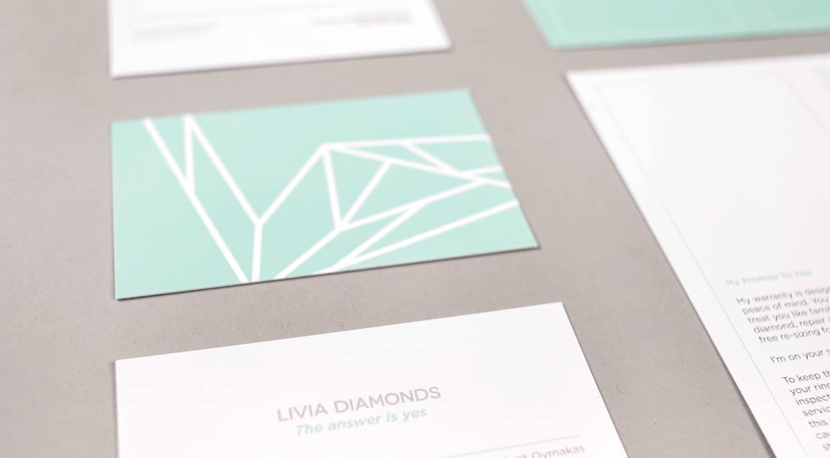 livia business card image
