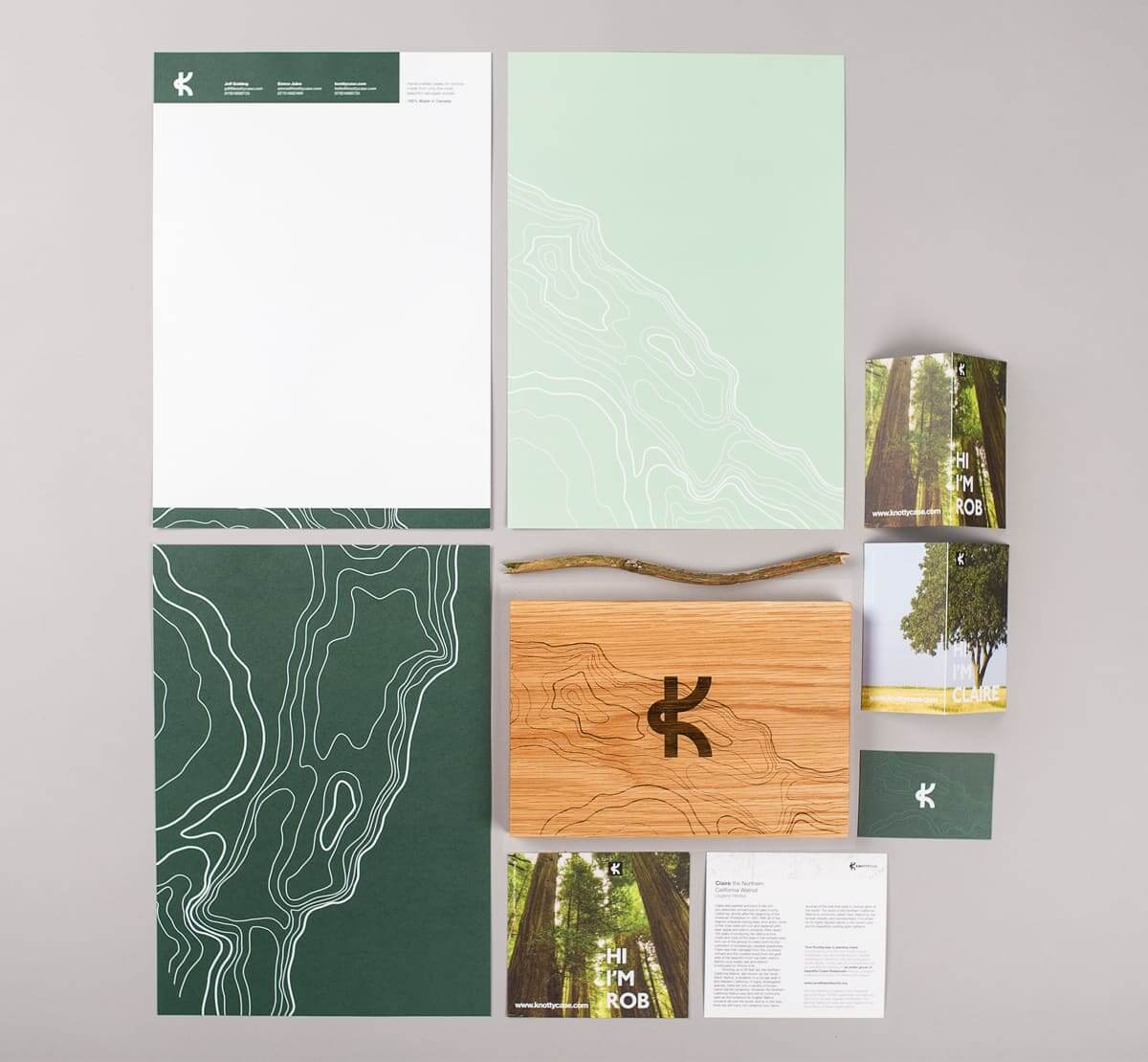 knotty case brand identity design