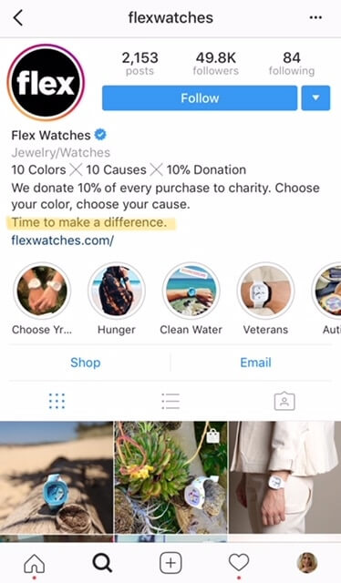 flex watches - blog about business taglines in 5 words or less
