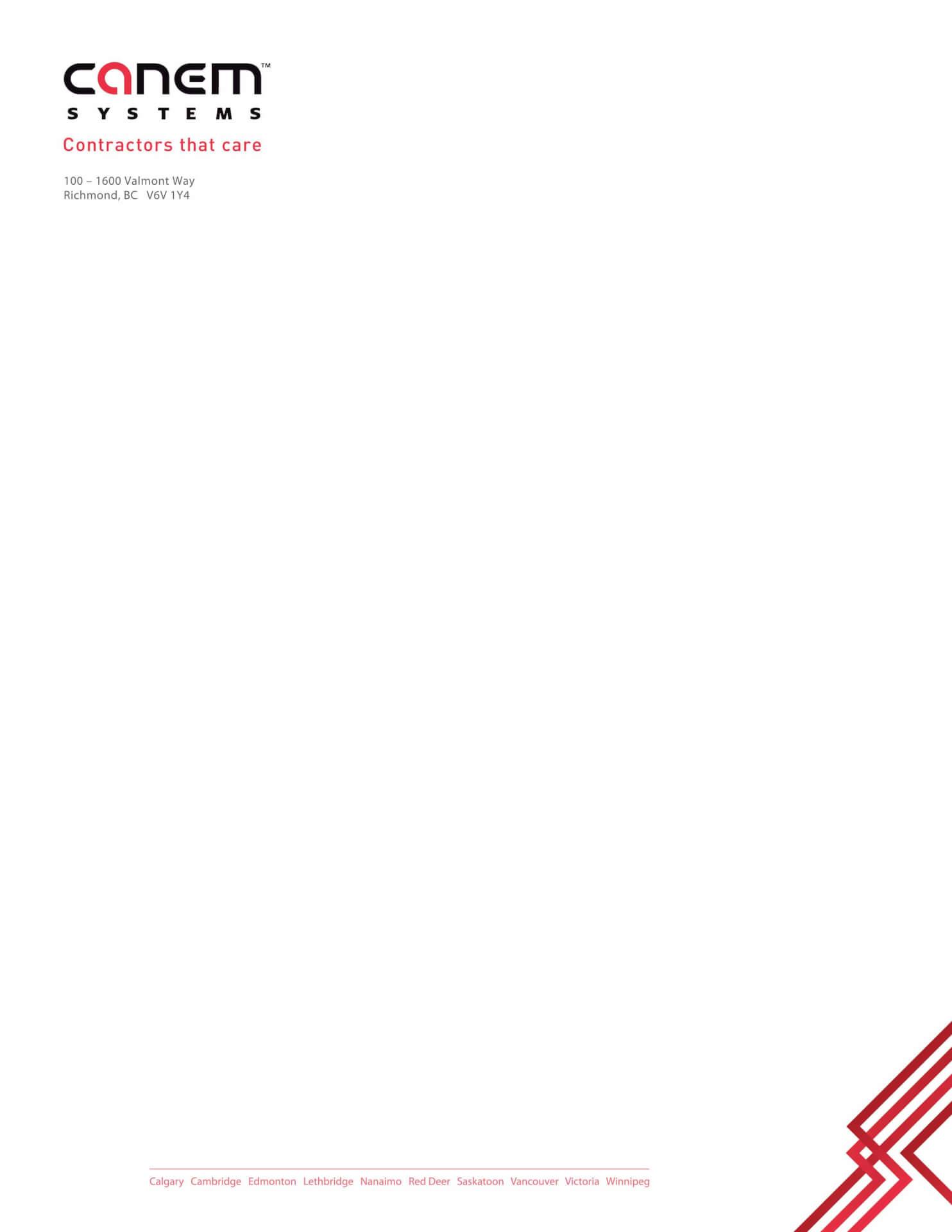 Canem letterhead Vancouver