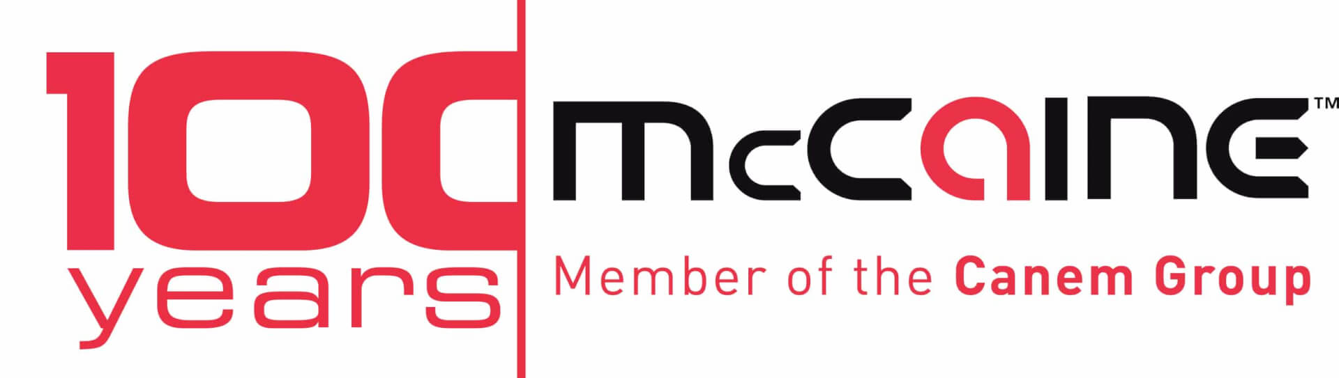 McCaine 100 year logo